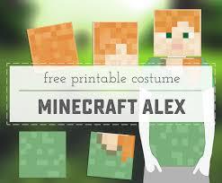 Minecraft Pumpkin Stencils Free Printable by Minecraft Alex Printable Costume Sweet Anne Designs