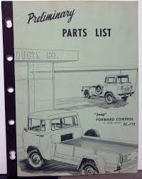 100 Willys Truck Parts 1957 Jeep Dealer List Book Forward Control FC170 4WD