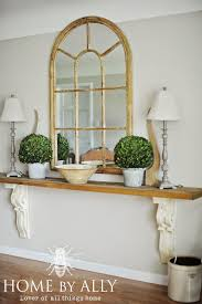 Narrow Entry Hall DIY Entryway Table Using Corbels Architectural Salvage At Home By Ally