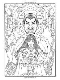 Amazon Vampires Coloring Book Dover Books 9780486478487