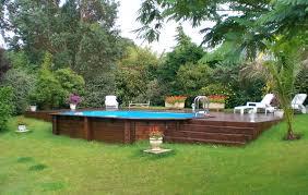 piscine en bois semi enterrée идеи для сада small