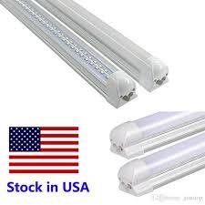 led light bulbs 72w cool white v shaped integrated 8ft led