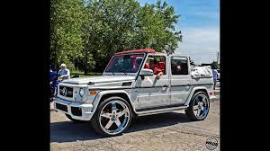 100 G Wagon Truck Stunna Jam 2016 Convertible Mercedes On 26 Wheels YouTube