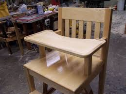 100 Wooden High Chair With Removable Tray Custom Maple By Bungalow White Oak Furniture CustomMadecom