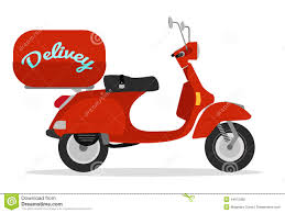 Scooter Clipart Motorcycle Delivery 1