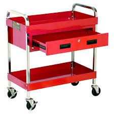 Steel Tool Cart W/ Locking Drawer