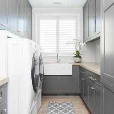 Gray Trellis Laundry Room Rug Design Ideas