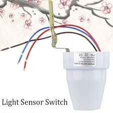 newest 220v light sensor wall switch outdoor wall mounted