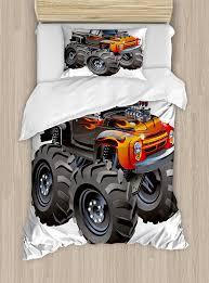 100 Toddler Truck Bedding Grave Digger Blanket Bed Age Crayola Monster