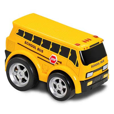 Kid Galaxy Soft & Squeezable Pull Back School Bus