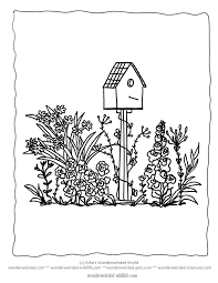 Flower Garden Coloring Sheets 3