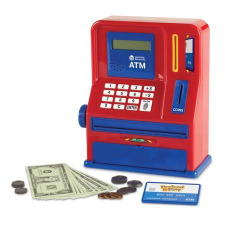 Learning Resources Pretend and Play Teaching Atm Bank - 32 Pieces