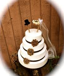 Rustic Wedding Cake Topper Bride Groom