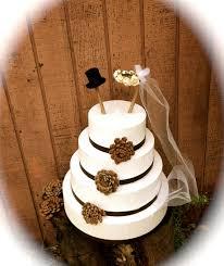 Rustic Wedding Cake Topper Bride Groom