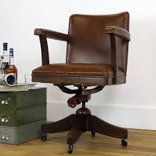 Vintage Oak & Leather Hillcrest Swivel Desk Office Chair ... Astounding Wooden Office Desk Chair Excellent Visitor Chairs Swivel Executive Leather Antique Wood With Casters He2932 Buy Casterwood Castsleather Mahogany Marylebone Design Svc2baltics Oak On Star Deluxe Bankers With Seat Fruit Quod She New Old Art Fniture Valencia Caster Dark Vintage 1930s Adjustable In 2019 Vtg Early 1900 S Milwaukee Industrial Hillcrest
