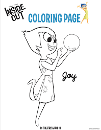 These Free Inside Out Coloring Pages Are Great To Keep Kids Entertained During The Summer