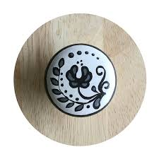 Pink Flower Dresser Knobs by Black And White Drawer Knob With Tassel Flower Knob White