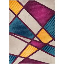 100 Art Deco Shape Well Woven Mystic Broadway Multi 8 Ft X 10 Ft Bold S Lines