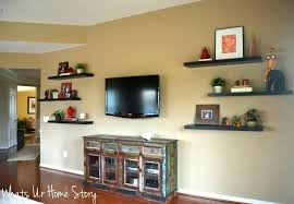 Floating Shelves Around Tv How To Decorate A With Whats Home Story