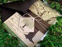 Sample Rustic Wedding Invitations Oak Tree Invitation On Kraft Paper Bellyband Brown Twine Tag Save The Date Shower Printable