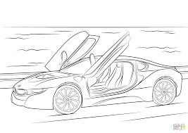 Click The 2015 BMW I8 Coloring Pages