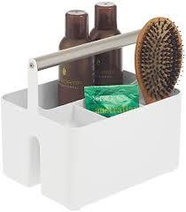 mdesign badezimmer aufbewahrungsbox praktischer korb mit griff zur kosmetikaufbewahrung tragbarer bad organizer mit 4 fächern