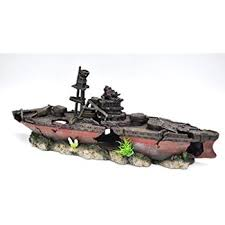amazon com xl ww2 battleship aquarium ornament 2 part aquarium