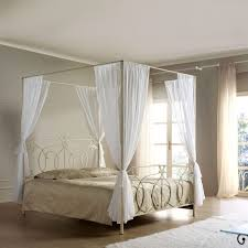 Twin Metal Canopy Bed White With Curtains by Bedroom Attractive Canopy White Frame Headboards With Trundle