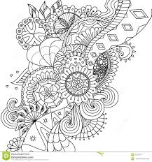 Royalty Free Vector Download Mandala Flowers For Coloring Book Adults