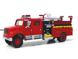 100 Model Fire Trucks HO 187 SCALE DIE CAST FIRE TRUCK FOR MODEL RAILROAD TRAINS LAYOUT
