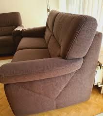 sofa sitzgarnitur 2 teilig braun neuwertig