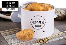 küche aufbewahrung kartoffeltopf im retro design zwiebeltopf