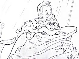 Ariel Flounder Coloring Pages Characters And Colouring