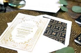 Wedding Invitations Gold Letterpress Black Coast Qld