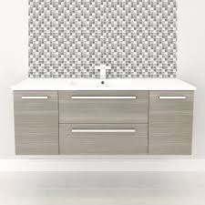 18 Deep Bathroom Vanity Set by Shop Cutler Kitchen U0026 Bath Silhouette Aria Integral Single Sink