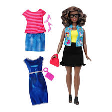 Barbie Fashionista AfricanAmerican Doll Curvy 2 Outfits