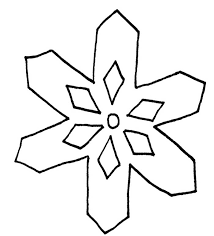 Frozen And Snow Snowflake Colouring Page