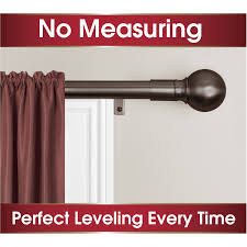 Swing Arm Curtain Rod Walmart by Smart Rods Easy Install Curtain Curtain Rod Ball Finial Walmart Com