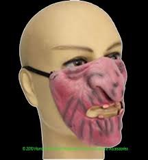 Scary Halloween Half Masks by Creepy Horror Baby Doll Face Mask Halloween Costume Accessory