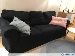 canape ektorp canapé ektorp ikea 3 places avec repose pied noir te koop