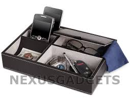 men s 5 compartment valet jewelry box mens dresser wallet tray