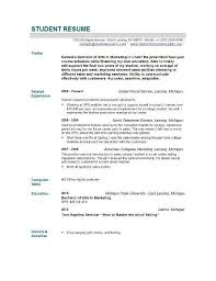 Recent College Graduate Resume Sample Best Collection Student Templates