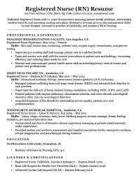 Resume Objective For Nursing Assistant With No Experience Examples Resumes Sample Registered Nurse Download Exampl