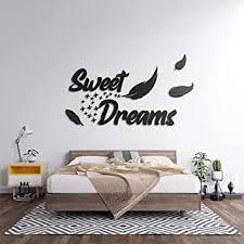 3d wandtattoo schlafzimmer aus holz mit dem spruch sweet dreams in verschieden farben große l 70cm x 120cm sprüche für wohnzimmer oder
