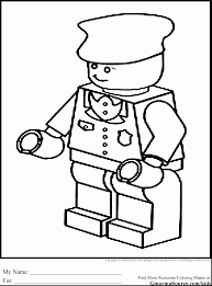 Beautiful Lego Police Coloring Pages To Print With Free
