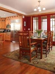 Mission Style Kitchen Dining Room
