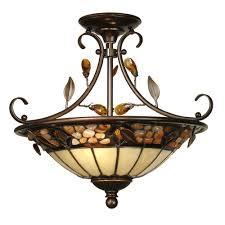 Home Depot Tiffany Style Lamps by Dale Tiffany 2 Light Pebble Stone Tiffany Anti Golden Sand Semi
