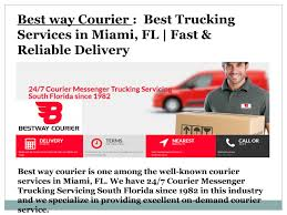 Best Way Courier : Best Trucking Services In Miami, FL | Fast ... Nolan Transportation Group Thirdparty Logistics Services Ntg Nelson Trucking Company Inc Home Facebook Flatbed Oversize Load Service Detroit Ltl Distribution Warehousing Clemons Clemons Trucking Company Trailers For Big Enough To Service Small Care Ftl Bos Global Northern Cadian Trucking Company Sets Up Us Headquarters In Miami Gulf Coast Purdy Brothers Refrigerated Dry Van Carrier Driving Jobs Startup Looks To Uberize Tackle Industrywide