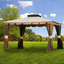 Hampton - II 10 X 12 Gazebo Replacement Canopy And Netting Garden ... Garden Sunjoy Gazebo Replacement Awnings For Gazebos Pergola Winds Canopy Top 12x10 Patio Custom Outdoor Target Cover Best Pergola Your Ideas Amazing Rustic Essential Callaway Hexagon Patios Sears