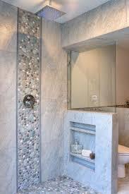 3x3 Blue Ceramic Tile by Best 25 River Rock Shower Ideas On Pinterest River Rock